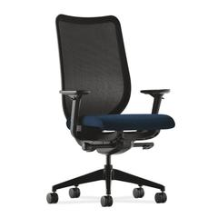 Nucleus Task Chair | Black ilira-Stretch Back | Synchro-Tilt, Seat Glide | Adjustable Arms | Mariner Fabric