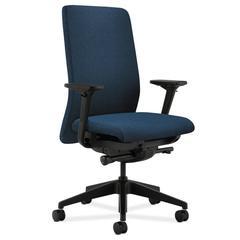 HON Nucleus Task Chair | Upholstered Back | Synchro-Tilt, Seat Glide | Adjustable Arms | Blue Fabric