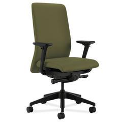 HON Nucleus Task Chair   Upholstered Back   Synchro-Tilt, Seat Glide   Adjustable Arms   Olivine Fabric