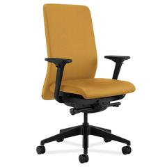 HON Nucleus Task Chair | Upholstered Back | Synchro-Tilt, Seat Glide | Adjustable Arms | Mustard Fabric