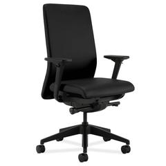 HON Nucleus Task Chair | Upholstered Back | Synchro-Tilt, Seat Glide | Adjustable Arms | Black Fabric
