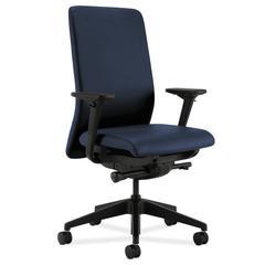HON Nucleus Task Chair | Upholstered Back | Synchro-Tilt, Seat Glide | Adjustable Arms | Ocean Fabric