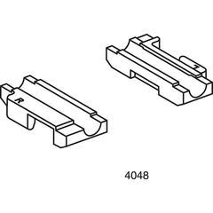 HON Olson Ganging Chair Glides | Clear Polymer