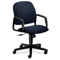 Solutions Seating High-Back Chair | Center-Tilt | Fixed Arms | Blue Fabric
