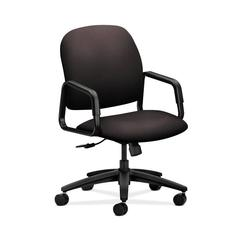 HON Solutions Seating High-Back Chair | Center-Tilt | Fixed Arms | Espresso Fabric