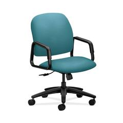 HON Solutions Seating High-Back Chair | Center-Tilt | Fixed Arms | Glacier Fabric