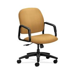 HON Solutions Seating High-Back Chair | Center-Tilt | Fixed Arms | Mustard Fabric