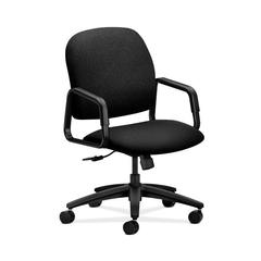 HON Solutions Seating High-Back Chair | Center-Tilt | Fixed Arms | Black Fabric