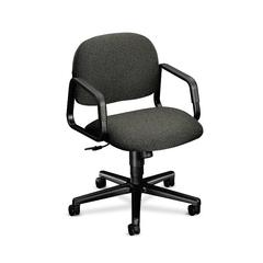 Solutions Seating Mid-Back Chair | Center-Tilt | Fixed Arms | Gray Fabric