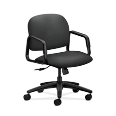 HON Solutions Seating Mid-Back Chair | Center-Tilt | Fixed Arms | Iron Ore Fabric