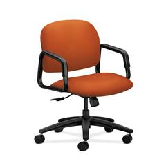 HON Solutions Seating Mid-Back Chair | Center-Tilt | Fixed Arms | Tangerine Fabric