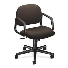 HON Solutions Seating Mid-Back Chair | Center-Tilt | Fixed Arms | Espresso Fabric