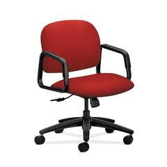 HON Solutions Seating Mid-Back Chair | Center-Tilt | Fixed Arms | Tomato Fabric