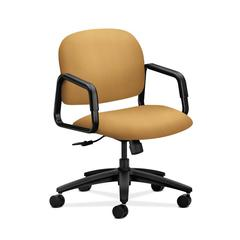 HON Solutions Seating Mid-Back Chair | Center-Tilt | Fixed Arms | Mustard Fabric