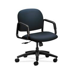 HON Solutions Seating Mid-Back Chair | Center-Tilt | Fixed Arms | Navy Fabric