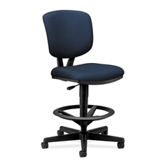 Volt Task Stool | Extended Height, Footring | Navy Fabric