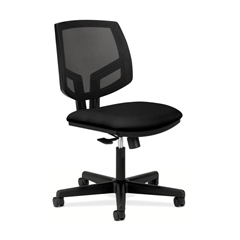 HON Volt Mesh Back Task Chair | Center-Tilt | Black Fabric