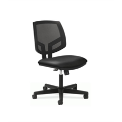 Volt Mesh Back Task Chair | Synchro-Tilt | Black SofThread Leather