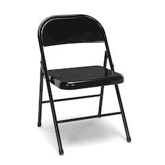4-Pack Metal Folding Chairs, Black
