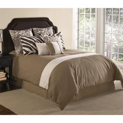 High Desert 9 pc Queen Comforter Set, Tan/Ivory