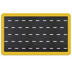Smart Step Anti-fatigue Mat Supreme Pro  Yellow Safety Border 5x3 Black