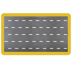 Smart Step Anti-fatigue Mat Supreme Pro  Yellow Safety Border 5x3 Gray