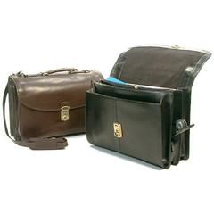 Bond Street Leather 4 compartiment briefcase with computer capability
