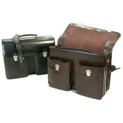Two pouch pocket 2 gusset briefcase(telephone pocket & computer compatible)