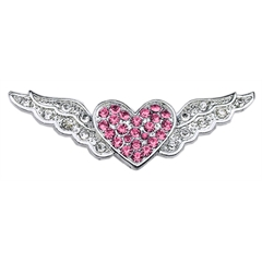 """Mirage Pet Products 3/8"""" Slider Aviator Charm Pink Heart 3/8"""""""