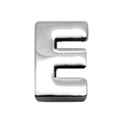 """Mirage Pet Products 3/8"""" (10mm) Chrome Plated Charms E 3/8"""" (10mm)"""