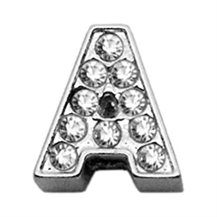 """Mirage Pet Products 3/8"""" Clear Bling Letter Sliding Charms A ."""