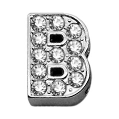 """Mirage Pet Products 3/8"""" Clear Bling Letter Sliding Charms B ."""