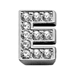 "Mirage Pet Products 3/8"" Clear Bling Letter Sliding Charms E ."