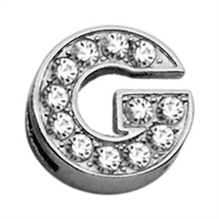 """Mirage Pet Products 3/8"""" Clear Bling Letter Sliding Charms G ."""