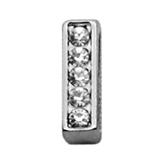"""Mirage Pet Products 3/8"""" Clear Bling Letter Sliding Charms I ."""
