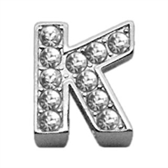 """Mirage Pet Products 3/8"""" Clear Bling Letter Sliding Charms K ."""