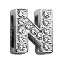 """Mirage Pet Products 3/8"""" Clear Bling Letter Sliding Charms N ."""