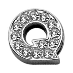 "Mirage Pet Products 3/8"" Clear Bling Letter Sliding Charms Q ."