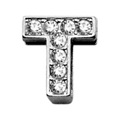 "Mirage Pet Products 3/8"" Clear Bling Letter Sliding Charms T ."