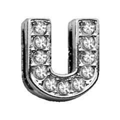 """Mirage Pet Products 3/8"""" Clear Bling Letter Sliding Charms U ."""