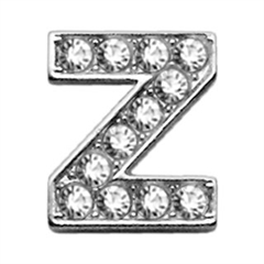 "Mirage Pet Products 3/8"" Clear Bling Letter Sliding Charms Z ."