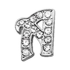 """Mirage Pet Products 3/8"""" Clear Script Letter Sliding Charms A ."""