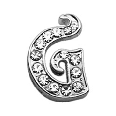 """Mirage Pet Products 3/8"""" Clear Script Letter Sliding Charms G ."""