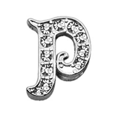 "Mirage Pet Products 3/8"" Clear Script Letter Sliding Charms P ."