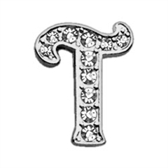 """Mirage Pet Products 3/8"""" Clear Script Letter Sliding Charms T ."""