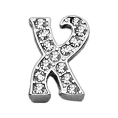 "Mirage Pet Products 3/8"" Clear Script Letter Sliding Charms X ."