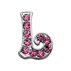"Mirage Pet Products 3/8"" Pink Script Letter Sliding Charms L ."