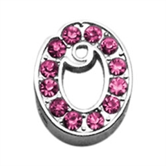 """Mirage Pet Products 3/8"""" Pink Script Letter Sliding Charms O ."""