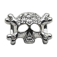 """Mirage Pet Products 3/8"""" Skull Slider Charm Clear 3/8'' (10mm)"""
