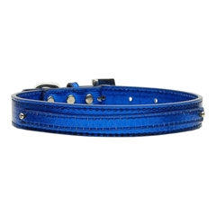 "Mirage Pet Products 3/8"" (10mm) Metallic Two Tier Collar Blue Large"